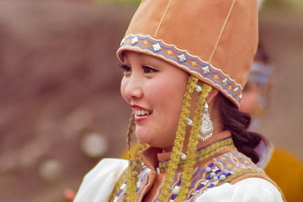 Buryat Woman in Traditional Dress