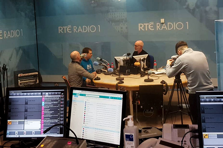 Gary O'Keeffe and Declan McEvoy on the Ray Darcy Show